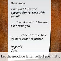 What Should Goodbye Letter For Coworkers How The Boss Sample