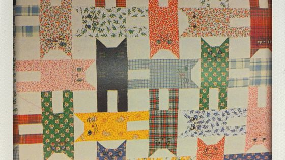 Cat quilt made one like this in more cat colors