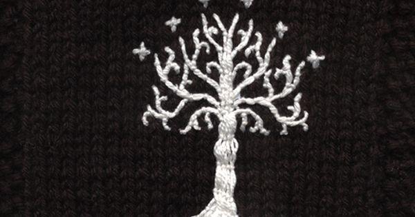 White Tree of Gondor afghan square Hobbit & LOTR crafts Pinterest K...