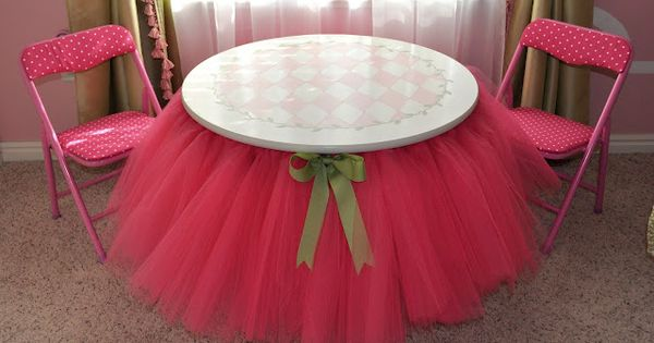 the perfect table for tea parties! DIY Tutu Table – Gorgeous Decorating