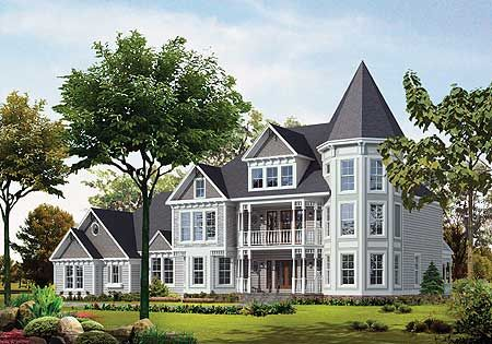 Plan 81155w Three Story Beauty Victorian House Plans Victorian