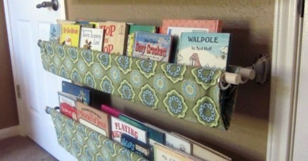 Love this idea for the kids room! Use double curtain rod brackets