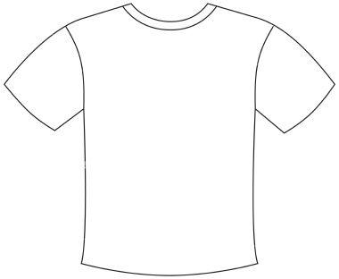 Blank Outline Template Clipart Best Shirt Template T Shirt Design Template Best T Shirt Designs