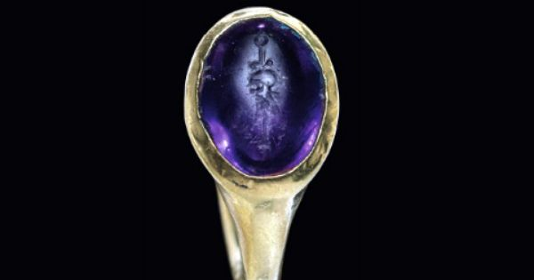 A ROMAN GOLD AND AMETHYST FINGER RING CIRCA 1ST CENTURY B ...: https://www.pinterest.com/pin/160440805451342856/