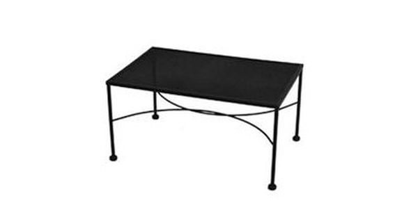 Meadowcraft Micro Mesh Wrought Iron 36 W X 24 D Rectangular Coffee Table 3041300 01 Rectangular Coffee Table Outdoor Coffee Tables Coffee Table