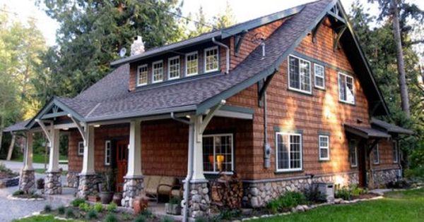 Log Cabin Bungalow : Tiny cabin to craftsman bungalow porch log