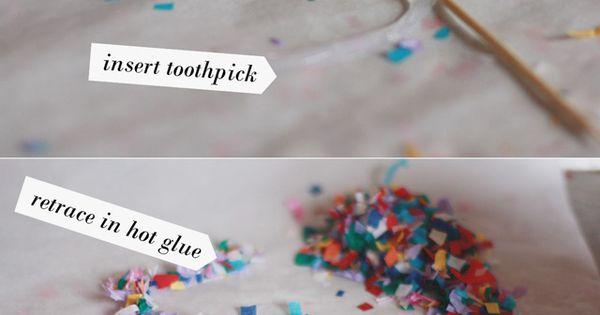 DIY Confetti Cake Toppers :: Materials: •Parchment paper (NOT WAX PAPER) •Confetti