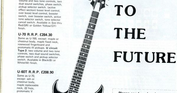 Aria Pro II Urchin ad from early \'80s | My Guitar File | Pinterest ...