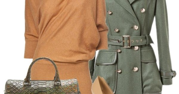 Camel and Military Green Outfit