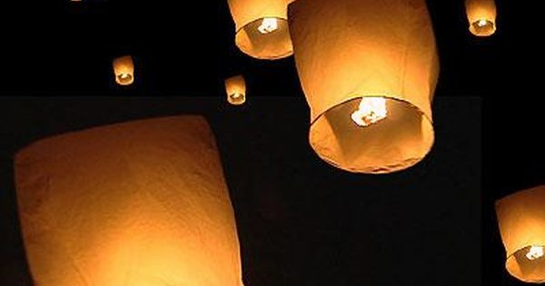 How to make flying paper lanterns! fun date idea. This would be