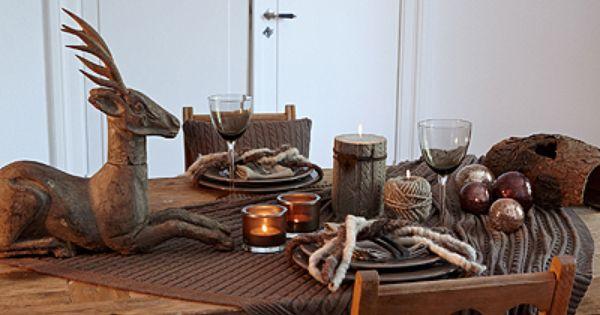 tischdeko weihnachten braun. Black Bedroom Furniture Sets. Home Design Ideas