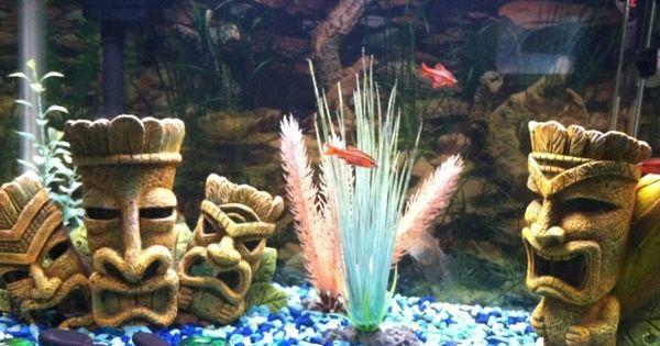 A Friend S Tiki Themed Aquarium Gimmes Pinterest