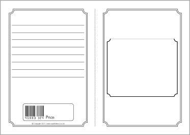 Foldable Story Book Writing Frame Template Sb3831 Sparklebox
