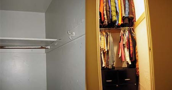 Post Image For Diy Space Saving Closet Deep Narrow Closet