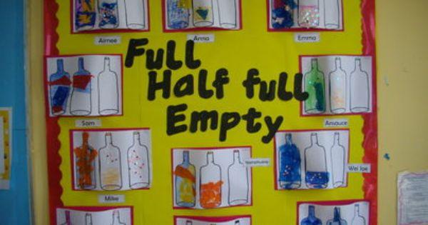 Half Full Art Display, Art and Colour, classroom displays, display, colour, creative,