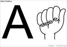 Alfabeto De Parede Em Libras Para Imprimir Letras Em Libras