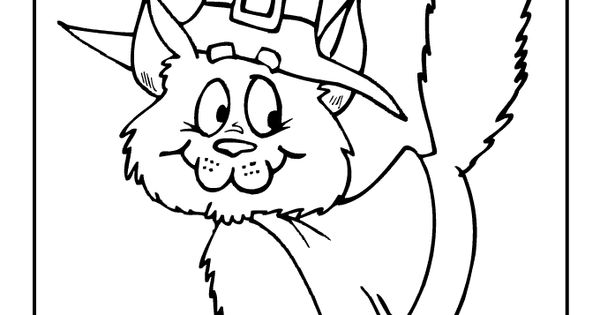 Cute Halloween Coloring Pages Halloween Witch Cat Coloring