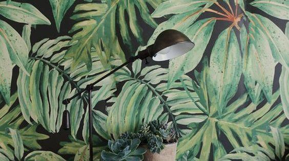 maison tapisserie miami tropical deco interieur recherche google d co de r cup 39 pinterest. Black Bedroom Furniture Sets. Home Design Ideas