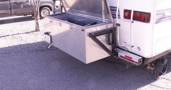 Tool Box Mounted To The Rear Bumper For Extra Storage