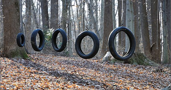 Nature Photography Tire Swing Obstacle Course In The