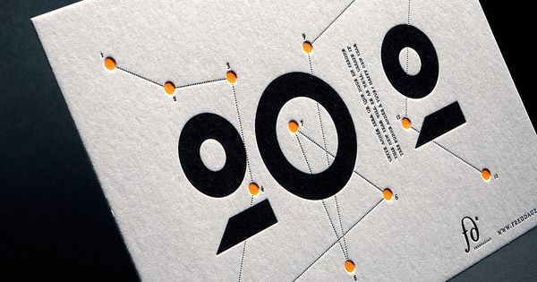 "thedsgnblog: Fred Dauzat | http://freddauzat.com ""Letterpress greeting cards I've designed for myself."""