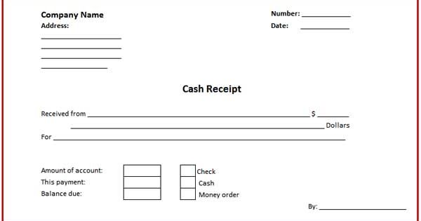 Business Cash Receipt Template Is Created In Format That
