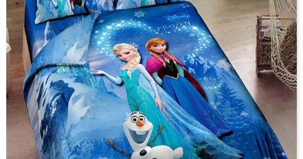 Cheap Bedroom Sets Kids Elsa From Frozen For Girls Toddler: Blue Frozen Bedding Elsa Anna Bedding For Girls 100