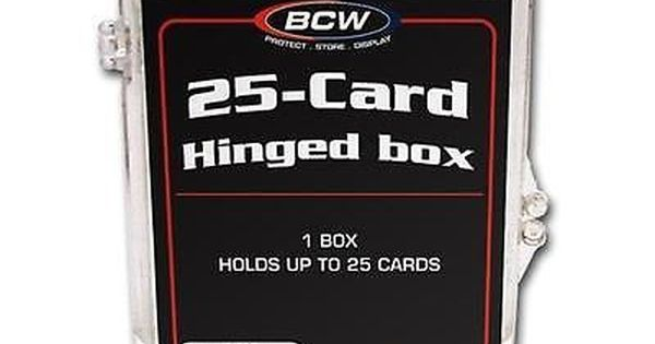 17a997083b3 Card Storage Boxes 183440  1 Case (100 Hinge-Box Card Cases)  Bcw Hinged  Trading Card Box - 25 Count -  BUY IT NOW ONLY   69.99 on eBay!