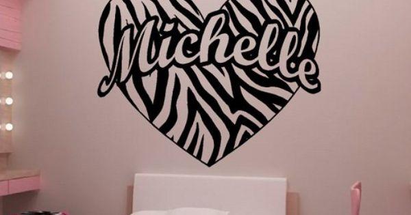 Painting Zebra Stripes On Walls Personalized Zebra Stripe Heart