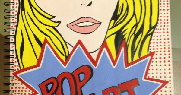 Completed Pop Art Title Page In Acrylic Paint My