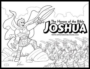 The Heroes Of The Bible Coloring Pages Joshua Bible Coloring Pages Sunday School Coloring Pages Joshua Bible