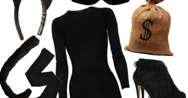 Halloween DIY: Cat Burglar Costume. Good inexpensive, last minute Halloween costume. While