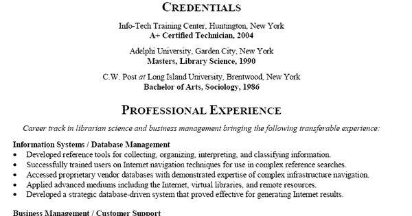 Career change resume help