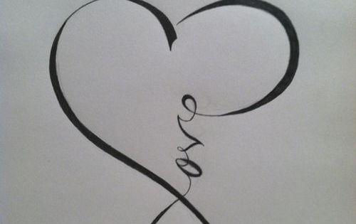"""Love"" calligraphy that resembles the ""infinity"" sign perhaps a new tattoo idea"