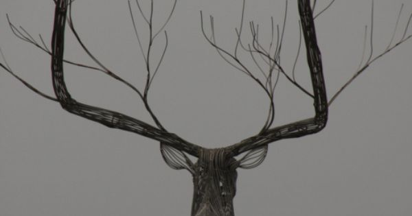 Sculpture by Byeong Doo Moon - combines both antlers and branches.