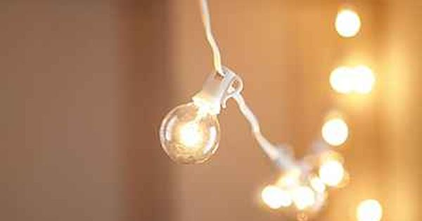 Globe Bulb String Lights Urban Outfitters : White Cord Globe String Lights Globe string lights and Lights