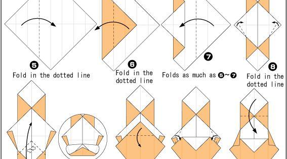 origami bear instructions easy