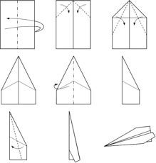 Paper Plane Make A Airplane Template