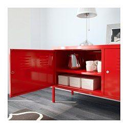 Ps Armoire Metallique Rouge 46 7 8x24 3 4 119x63 Cm Mueble Ikea Ps Ikea Ps Gabinetes Rojos