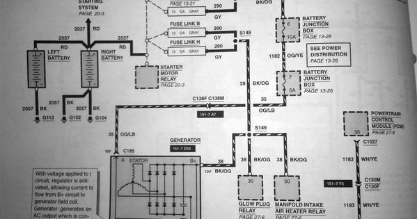 7 3 Dual Alternater Install Any Wiring Diagrams Out There Ford Powerstroke Diagram Engineering