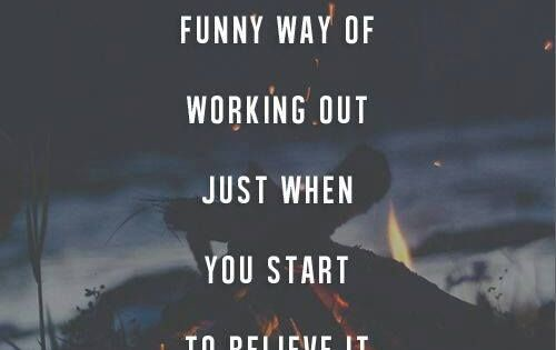 Life has a funny way of working out just when you start