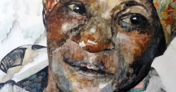African Woman Painting - Print from Original Watercolor ...