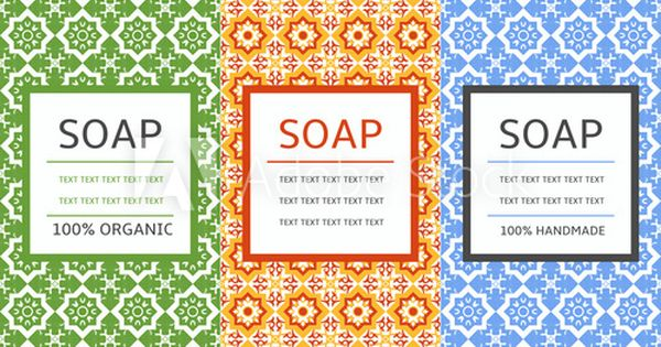 Soap Package Patterns Seamless Vector Vector Set Of Design Elements For Soap Labels And Wrapping Paper And Box Organic And Handmade Soap Design Package Templ