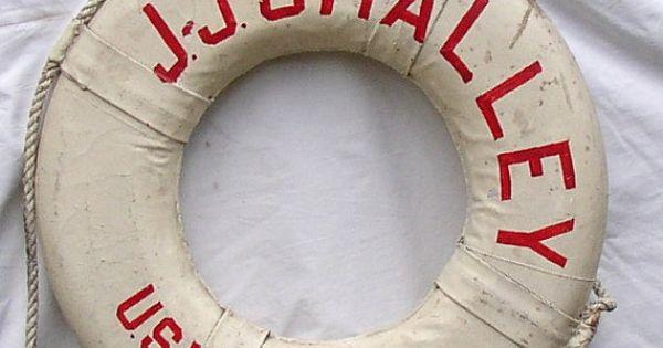 Vintage Us Navy Life Ring Preserver Float Ship Boat