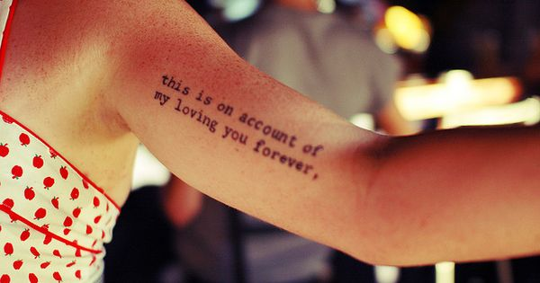 Inspiring picture arm, arm tattoo, girl, message, tattoo.