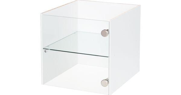 vitrineneinsatz mit r ckwand f r kallax regal glass shelves shops and glass cabinets. Black Bedroom Furniture Sets. Home Design Ideas