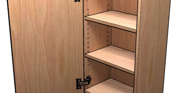 How to build frameless wall cabinets for the wall near for Build frameless kitchen cabinets