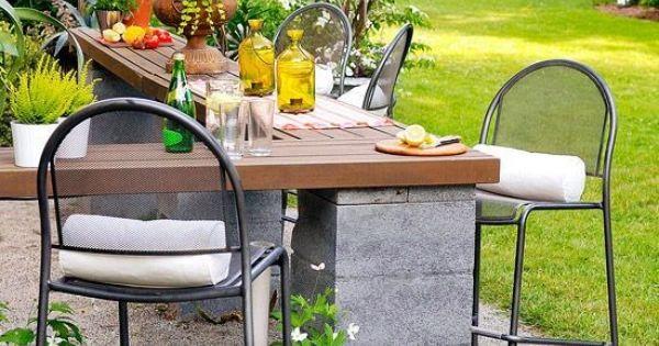 Diy Cinder Block Outdoor Patio Bar Dream Gardens