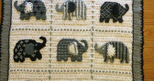 Elephant afghan | CROCHET - AFGHANS | Pinterest | Best ...