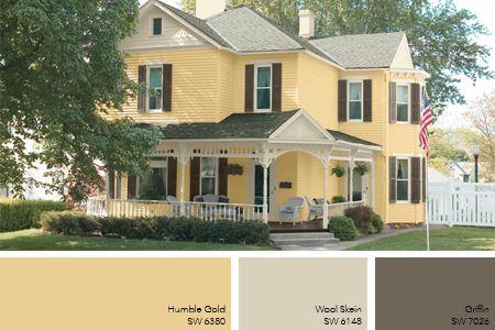 Exterior Paint Color Ideas 8 Exterior Paint Trends In 2020 Exterior House Paint Color Combinations Yellow House Exterior Exterior Paint Color